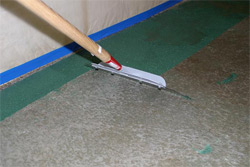 removing concrete paint from floor with ronjohn paint stripper and. Black Bedroom Furniture Sets. Home Design Ideas